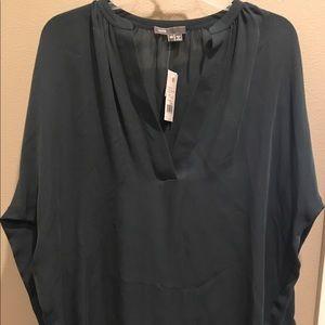 Size XS Vince long sleeve silk tunic NWT